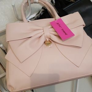 Betsey Johnson Big Bow Satchel - Ballerina Pink